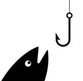 Gancho de pesca ilustração do vetor