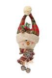 Gancho de porta do boneco de neve do Natal foto de stock