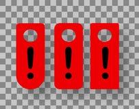 Gancho de porta vermelho O sinal do hotel, não perturba o sinal de suspensão ilustração do vetor
