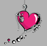 Gancho do coração Fotografia de Stock Royalty Free