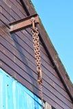 Gancho do guincho em uma construção do porto-lado Fotografia de Stock Royalty Free