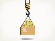 Guindaste do dinheiro Imagens de Stock