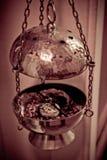Gancho do incenso em um chruch imagens de stock