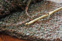 Gancho e fio de Crochet Fotos de Stock Royalty Free