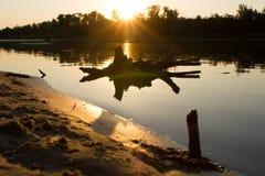Gancho oscuro en agua Imagen de archivo libre de regalías