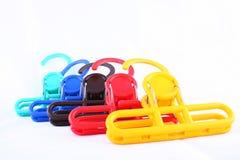 Ganchos coloridos da lavanderia Foto de Stock