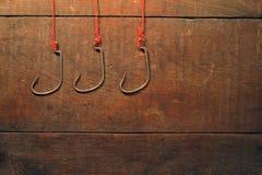Ganchos de leva de pesca Fotos de archivo