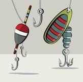 Ganchos de pesca Imagens de Stock Royalty Free