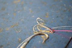 Ganchos de pesca Foto de Stock Royalty Free