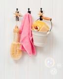Ganchos de porta do banheiro Imagem de Stock