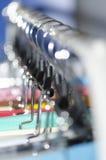 Ganchos de revestimento Fotografia de Stock Royalty Free