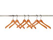 Ganchos de roupa de madeira isolados Imagem de Stock Royalty Free