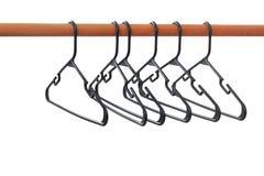 Ganchos em um Rod, isolado imagem de stock