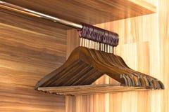 Ganci di legno dell'hotel Immagine Stock