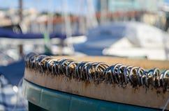 Ganci di pesca fotografia stock