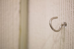 Gancio d'acciaio della parete Fotografia Stock