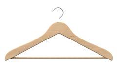 Gancio di cappotto di legno Fotografia Stock