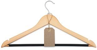 Gancio di cappotto e prezzo da pagare in bianco Fotografia Stock