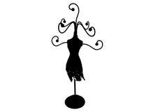 Gancio di Jewellry in siluetta Fotografie Stock Libere da Diritti