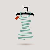 Gancio e un vestito, illustrazione di vettore Immagini Stock