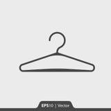 Gancio per l'icona dei vestiti per il web ed il cellulare Fotografia Stock Libera da Diritti