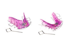 Gancio smontabile dentario, ortodontico Ganci invisibili immagini stock