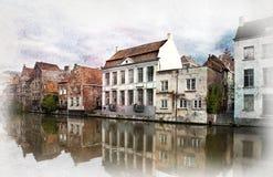 Gand, Belgio. Fotografie Stock