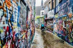Gand, Belgio Parete dei graffiti Immagine Stock Libera da Diritti