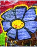 Gand, Belgique Mur de graffiti Image libre de droits
