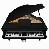 Gand piano isolated on a White Royalty Free Stock Photo