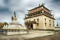 Gandan kloster i Ulan Bator Fotografering för Bildbyråer