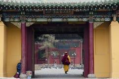 Gandan monastery - Mongolia Royalty Free Stock Photography