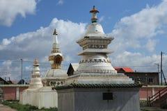 Gandan Monastery Ulaanbaatar Stock Photo