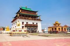 Gandan Monastery in Ulaanbaatar. The Gandantegchinlen or Gandan Monastery is a Chinese style Tibetan Buddhist monastery in the Mongolian capital of Ulaanbaatar Royalty Free Stock Image