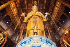 Gandan Monastery in Ulaanbaatar. ULAANBAATAR, MONGOLIA - JULY 12, 2016: Avalokitesvara statue inside the Gandantegchinlen or Gandan Monastery. Its a Tibetan Stock Photography