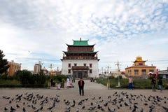 Gandantegchenling Buddhist temple in Ulaanbaatar, Mongolia Stock Photography