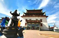 The Gandantegchinlen Monastery is a Tibetan-style Buddhist monastery in the Mongolian capital of Ulaanbaatar, Mongolia Stock Photos