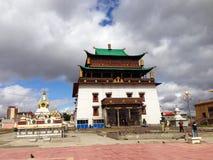 Gandantegchinlen Monastery in Ulaanbaatar, Mongolia Stock Image