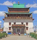 Gandantegchinleng Khiid Buddyjski monaster wewnątrz Obrazy Royalty Free