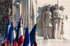 Gandarmerie, celebtation, cynologist, França, Le Chesnay Imagens de Stock Royalty Free