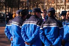 Gandarmerie, celebtation, cynologist, França, Le Chesnay imagem de stock royalty free