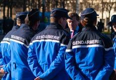 Gandarmerie, celebtation, cynologist, France, Le Chesnay Royalty Free Stock Image