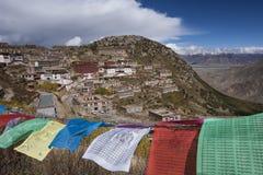 Ganden kloster i Tibet - Kina Arkivfoto