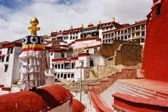 ganden kloster tibet Royaltyfri Bild