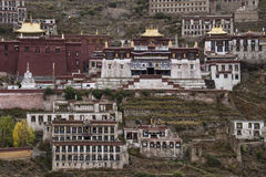 Ganden monaster w Tybet, Chiny - Fotografia Royalty Free