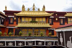 Ganden Monastery in Tibet Autonomous Region, China. stock photos