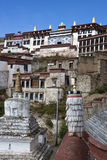 Ganden Monastery in Tibet Royalty Free Stock Photos
