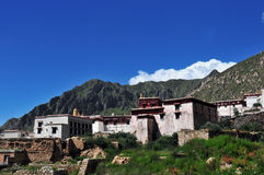 Ganden Monastery ,Tibet buddhism temple Royalty Free Stock Images