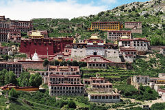 Ganden Monastery ,Tibet buddhism temple Stock Image