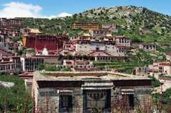 Ganden Monastery ,Tibet buddhism temple Royalty Free Stock Photos